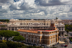 Italian city Rome overview Stock Images