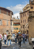The Italian city of Siena is the eternal rival of Florence Royalty Free Stock Image