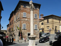 Italian city with tourist visiting Stock Photo