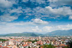 Italian Cityscape. With dramatic clouds, image shot in Brescia Royalty Free Stock Images