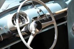 Italian classic car interior. The interior of an Italian historic classic car Stock Photos