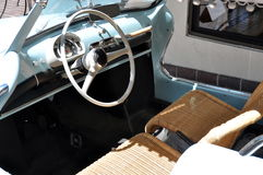 Italian classic car interior. The interior of an Italian historic classic car Stock Image