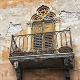 Italian classic neglected balcony Stock Photography
