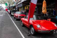 Italian Classic Sports Cars in a Car Show. MELBOURNE / AUSTRALIA - SEPTEMBER 5 2015: Hampton Street Fathers Day Car Show - A selection of vintage and classic Royalty Free Stock Photos
