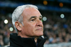 Italian coach Claudio Ranieri Royalty Free Stock Photo