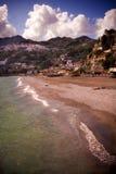 Italian Coast. A view of the coast near Naples, Italy Stock Images
