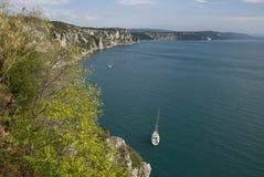 Italian coast. Coast of italy near triest Royalty Free Stock Photo