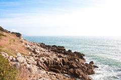 Italian coast. At the Riviera di Ullise natural park in december 2009 Royalty Free Stock Photo
