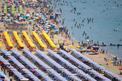 Italian coast. Coast of the italian city of Sperlonga Royalty Free Stock Image