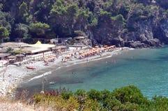 Italian coast. Coast of the italian city of Sperlonga Royalty Free Stock Photo