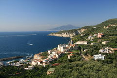 The Italian Coast. Landscape shot of the Italian Coast Royalty Free Stock Photo