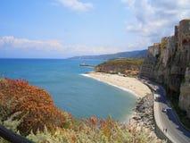 Italian coast. An Italian coast in the Mediterranean royalty free stock photos