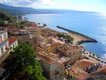 Italian coast. An Italian coast in the Mediterranean stock photography