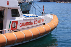 Italian coast guard. A boat of the italian coast guard Royalty Free Stock Photo