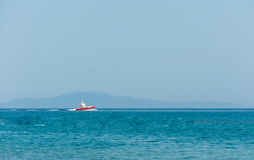 Italian coast guard rubber dinghy Royalty Free Stock Photography