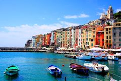 Italian coastal village Stock Image