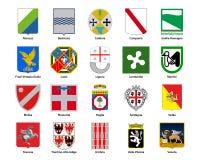 Italian Coats Of Arms Royalty Free Stock Photo