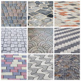 Italian cobbleston - collage Stock Image