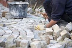 Italian cobblestone paver Stock Image