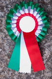 Italian cockade. With typical green, white and red Stock Photo