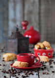 Italian coffe and cantuccini Royalty Free Stock Photography