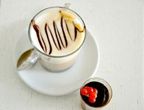 Italian coffee and cake , breakfast time Stock Photo