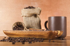 Italian coffee concept with cafe set Stock Photo