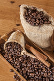 Italian coffee concept with cafe set Royalty Free Stock Image