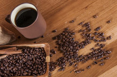 Italian coffee concept with cafe set Royalty Free Stock Photography