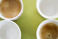 Italian coffee espresso. flat lay Stock Images