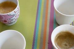 Italian coffee espresso. flat lay Royalty Free Stock Photos