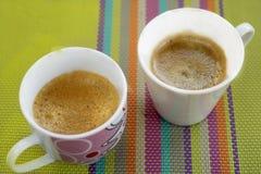 Italian coffee espresso. flat lay Stock Photography