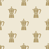 Italian coffee maker moca pattern tile background seamless Stock Images
