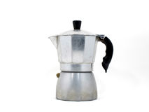Italian coffee maker (moka pot) Royalty Free Stock Photos