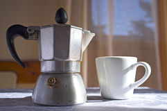 Italian coffee maker Royalty Free Stock Images
