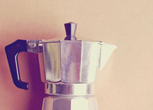 Italian coffee maker with retro filter Stock Photos
