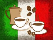 Italian Coffee Represents Cafe Beverage And Caffeine. Italian Coffee Indicating Beverage Italy And Restaurant Stock Photos