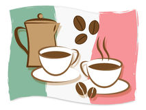 Italian Coffee Represents Cafe Restaurant And Beverages Royalty Free Stock Images