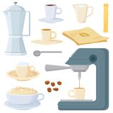 Italian coffee set Stock Image