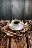 Italian coffee in small white cup Stock Photography