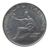 Italian coin Stock Photo