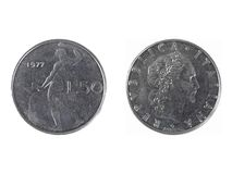 Italian coin Royalty Free Stock Photos