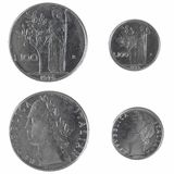 Italian coins Royalty Free Stock Photography