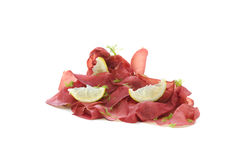 Italian cold cuts called Bresaola similar to waves Stock Image