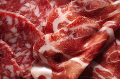 Italian cold cuts closeup Stock Photos