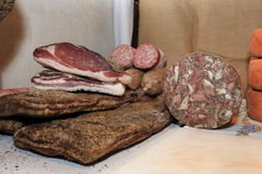 Italian cold cuts Stock Image