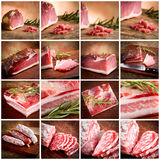 Italian cold cuts set Stock Photo