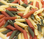 Italian colored pasta Stock Photography