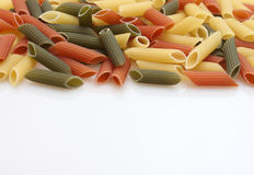Italian colored pasta Stock Images