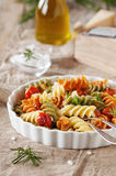 Italian colored pasta Stock Photos